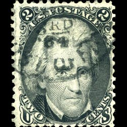 The Black Jack stamp - This stamp earned its moniker as a combination of Andrew Jackson's name and the stamp's black color.
