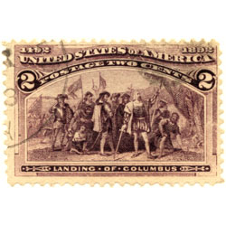 Columbian Exposition postage stamp issued in 1893