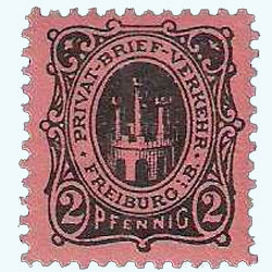 German post office Privat Brief Verkehr released this postage stamp in 1887