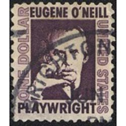 The Prominent American stamps - The famous playwright Eugene O'Neill was one the famous American personalities that appeared on a US stamp series.