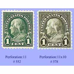 Stamp perforations - Whether printed on a sheet or a coil, stamps are individually divided by a series of perforations.