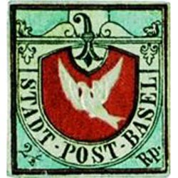 Swiss Basel Dove stamps