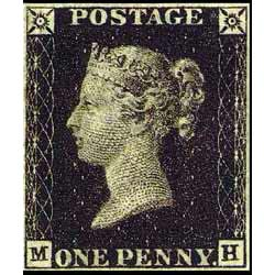 One Penny Black - the first stamp in the world